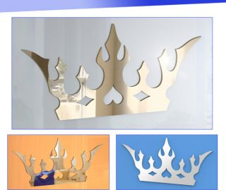 15cm Shatterproof Acrylic King Queen Royal Crown Mirror