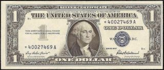 UNC 1957 $1 Dollar Bill Star Note Silver Certificate Currency Paper Money