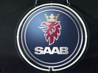 Neon 487 Saab Car Logo Display Neon Sign