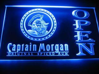 W0611 Captain Morgan Rum Open Neon Light Sign