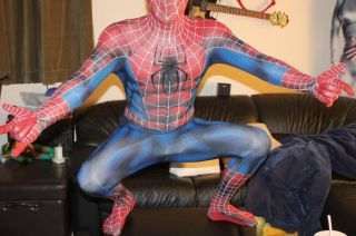 Spiderman Costume Comic Style Ultimate 2D Comic Con Used Amazing Replica