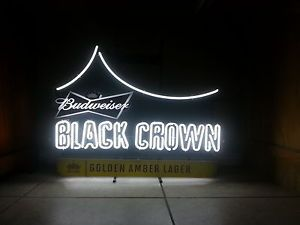 Budweiser Black Crown Neon Sign