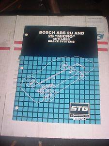 1990 GM ABS Bosch 2U and 2S Micro Wheel Anti Lock Brake Manual STG 15005 08 2