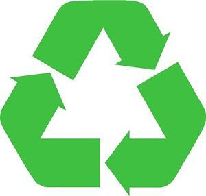 2X Recycle Stickers Logo Decal Sticker Recycling