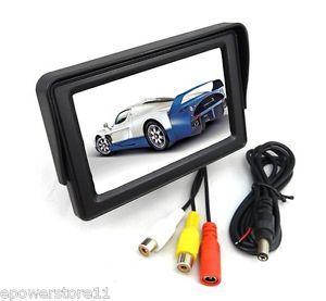 "4 3"" TFT LCD Car Rear View Monitor DVD Sunshade Color Screen for All CCTV Camera"