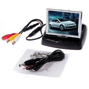 """Security 3 5"""" TFT LCD Wide Screen Car Rear View Backup Parking Mirror Monitor"""