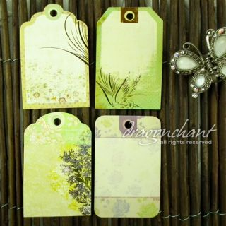 Pack of Shabby Chic Cottage Garden Flower Gift Tags Price Label Luggage Hang Tag