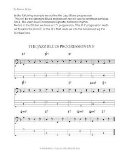 Jazz Bass Book The Blues in 12 Keys Bass Tab Edition