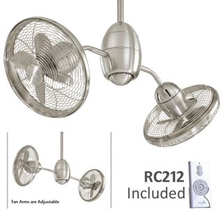 Minka Aire Gyrette Nickel Modern Ceiling Fan F302 BN