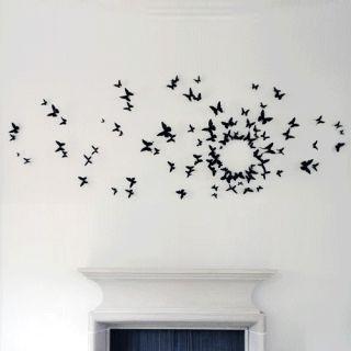 20pcs 3D Butterflies Wall Sticker Pop Up Decal Decorations Room Wedding Decor