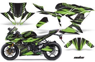 AMR Racing Graphic Kit Kawasaki ZX6 R 636 Ninja Street Bike Decals 13 14 Nuke GR