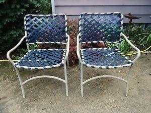 Brown Jordan Tropitone Vintage Mid Century Patio Furniture Tamiami Lounge  Chairs
