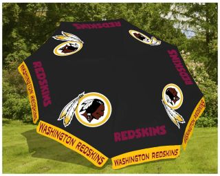 Washington Redskins NFL 9' Beach Outdoor Market Patio Table Umbrella