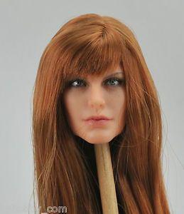 Custom 1 6 Angelina Jolie Figure Head Sculpt Fit Phicen Obitsu OOAK CY Girl Body