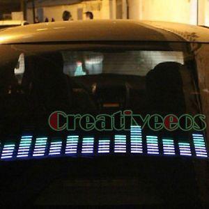 90x25cm Cool Car Charge Audio Voice Control Sensor Music Rhythm LED Light Lamp