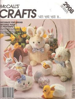 McCalls 2908 Easter Bunny Basket Chick Egg New Pattern