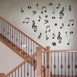 42 Vinyl Music Musical Notes Variety Pack Wall Decor Decal Sticker