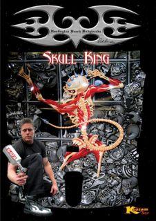 Skull King 4 Airbrush Stencil Template Auto Paint Art