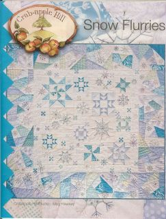 'Winter Flurries' Christmas Embroidery Quilt Pattern Crab Apple Hill