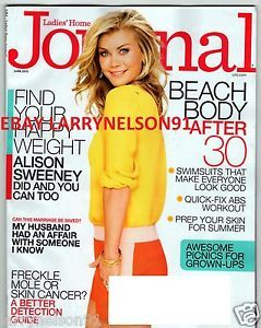 Ladies Home Journal June 2013 Alison Sweeney Mole or Skin Cancer Swimsuits Beach
