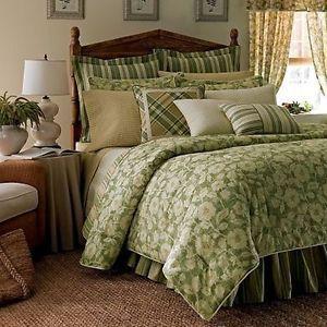 """New Chaps by Ralph Lauren """"Louisa"""" Reversible Floral Queen Comforter Bedskirt"""
