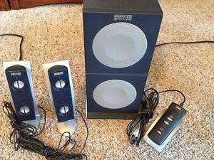 Altec Lansing 2100 Computer Speakers Subwoofer Controller Set