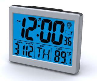 """New Atomic Desk Bedroom Alarm Clock 1 5"""" Time Number Back Blue Light"""