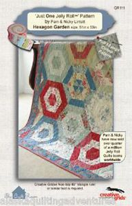 Quilt Pattern Hexagon Garden 'Just One Jelly Roll' Pattern The Quilt Room