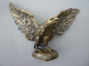 Antique Bronze Eagle Hawk Falcon Sculpture Chiseled