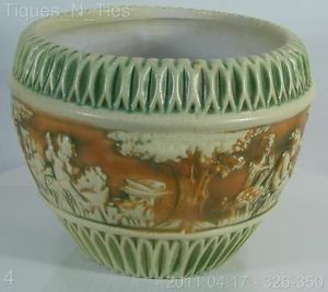 "Roseville Pottery Donatello 11"" Jardinier Vase Planter"