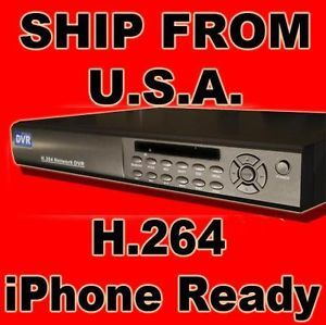 8 CH Channel Standalone DVR H 264 iPhone CCTV Security