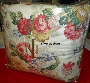 Ralph Lauren Surrey Garden Floral Full Queen Comforter New