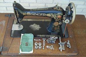 Antique 1910 Singer Sewing Machine Model 66 Red Eye Antique Sewing Machine