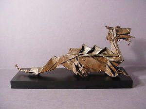 Abstract Bronze Dragon Sculpture Mid Century Art Deco Eames Art Modernist Mod