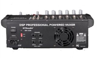 6 Channel 1000W Professional Powered Mixer Power Mixing Amplifier Amp
