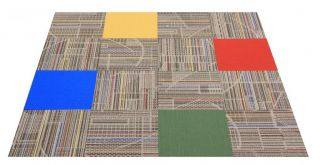 "Flor Preschool Area Rug Tile Kit 6' 5"" x 6' 5""' 16 Tiles of 19 7"" x 19 7"""
