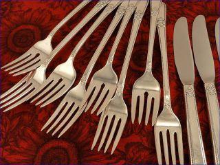 Service for 4 1939 Adoration Flatware Set 20pc 1847 Rogers Vintage Silver Plate