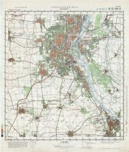 Russian Soviet Military Topographic Maps Magdeburg Germany 1 50 000