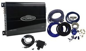 Jensen Power 1500 5D 1500 Watt 5 Channel Car Audio Amplifier Amp Wire Kit