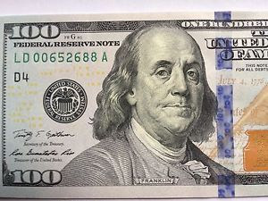 2013 100 Dollar Bill Low Serial Number Federal Reserve Note