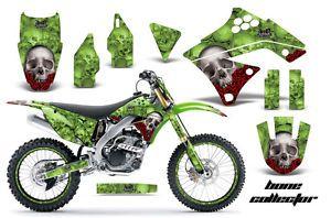 AMR Racing Dirt Bike Number Plate Decal Graphic Wrap Kawasaki KXF 250 09 12 BCG