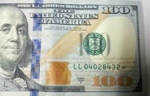 New $100 Dollar Bill Low Serial Number Star Note LL04028432 Fort Worth Texas