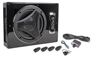 "Boss BASS900 8"" Low Profile Powered Subwoofer Under Seat Car Truck Sub"