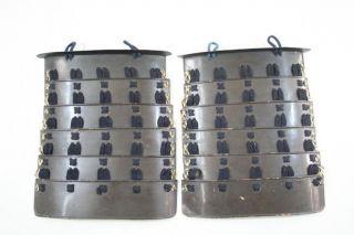 "Sode of Yoroi Armor Edo 10 2 × 9 1 "" 880G"