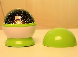 ★ Rotating Star Sky Childrens Kids Battery Room Night Light Lamp Projector ★