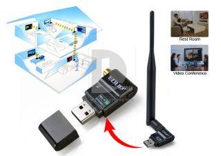 300Mbps HD TV Wireless Network IEEE 802 11n G B WiFi USB LAN Adapter Antenna New