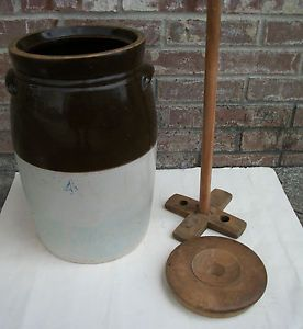 Antique Stoneware Butter Churn