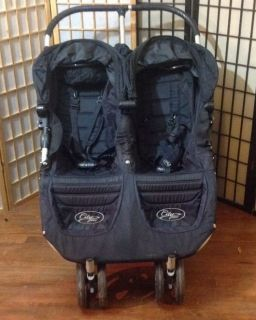 Baby Jogger City Mini Black Standard Double Seat Stroller