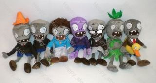 Brand New 7 Figures of Plant vs Zombies Zombie Soft Toy