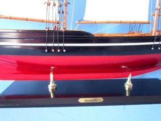 "Bluenose 2 50"" Wooden Model Sailboat Sailboat Centerpieces Nautical Decor"